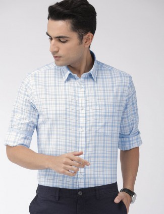 Indian Terrain blue checks slim fit shirt