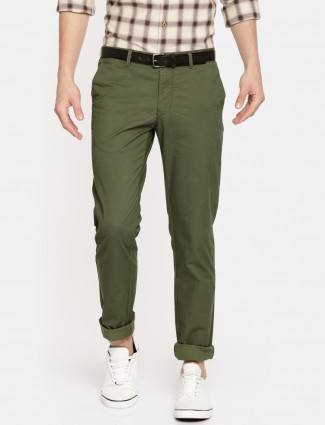Indian Terrain casual olive trouser