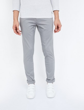 Indian Terrain casual wear solid grey trouser