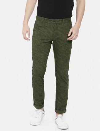 Indian Terrain cotton fabric green trouser