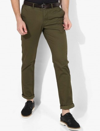 Indian Terrain dark olive trouser