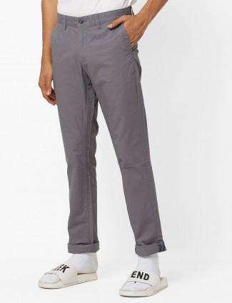 Indian Terrain grey solid trouser