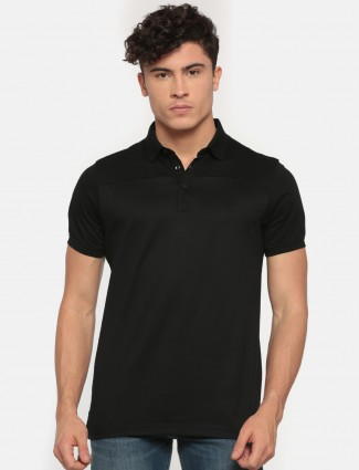 Indian Terrain jet black casual t-shirt