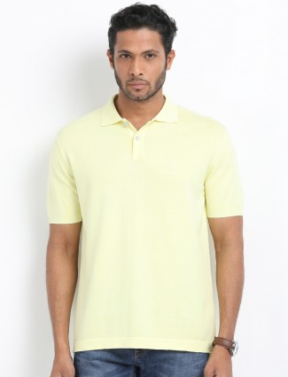 Indian Terrain lemon yellow cotton t-shirt
