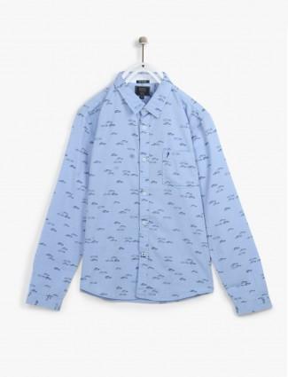 Indian Terrain light blue casual shirt