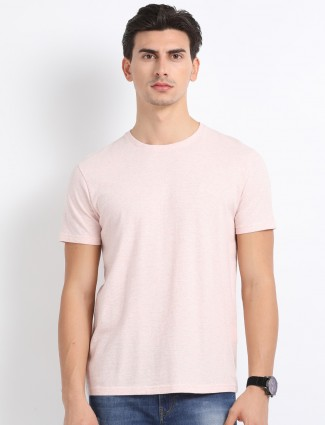 Indian Terrain light pink slim fit t-shirt