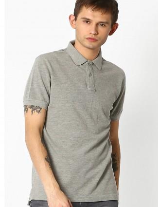 Indian terrain plain solid cotton slim fit t-shirt