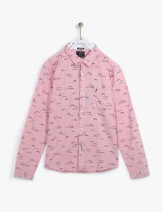 Indian Terrain printed pink shirt