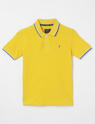 Indian Terrain solid yellow t-shirt