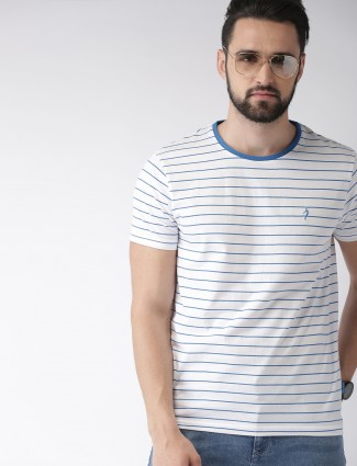 f9070471948 Indian Terrain white stripe pattern t-shirt