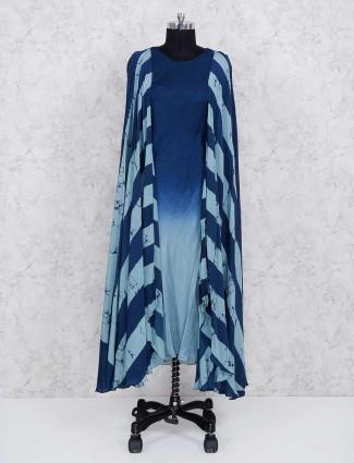 Indo western blue color kurti