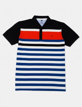 Instinto casual wear blue stripe t-shirt