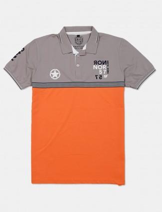 Instinto grey cotton mens t-shirt