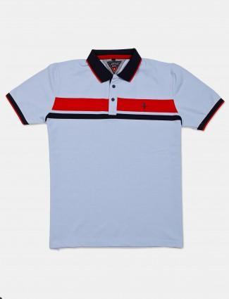 Instinto light blue solid cotton t-shirt