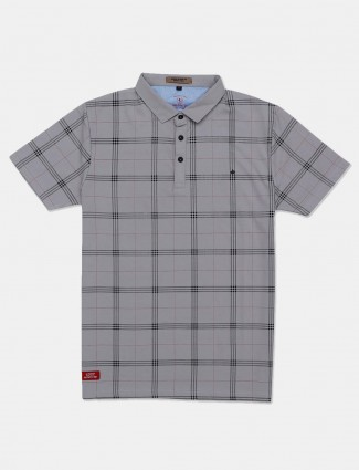 Instinto mens grey checks t-shirt