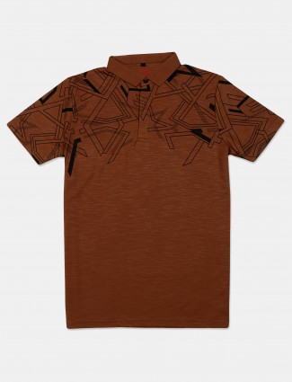 Instinto presented brown printed t-shirt