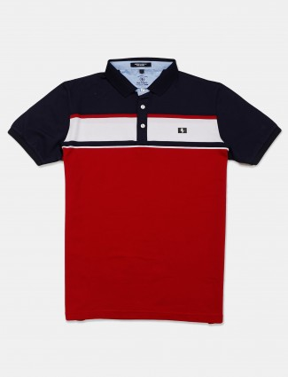 Instinto solid maroon casual t-shirt