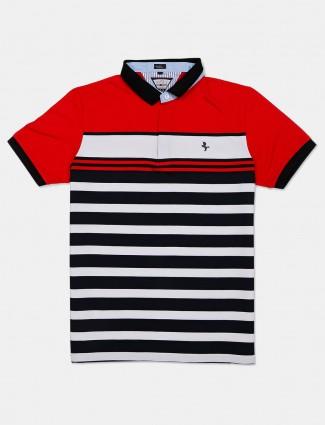 Instinto stipe red round neck t-shirt