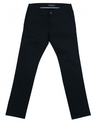 Irony black cotton comfort fit mens trouser