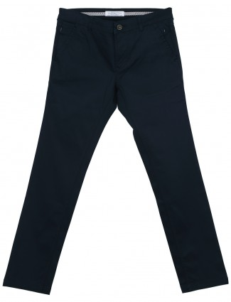 Irony navy comfort fit cotton mens trouser