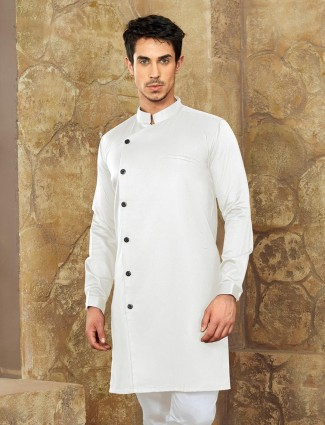 Ivory white color short pathani