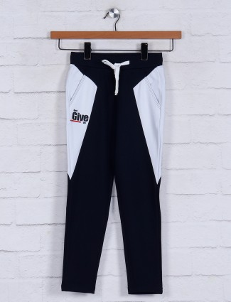 Jappkids solid navy night wear track pant