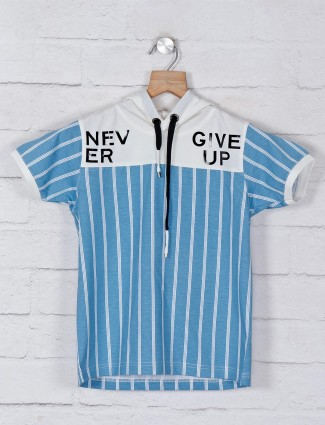 Jappkids stripe blue cotton t-shirt