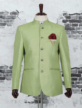 Jodhpuri blazer in green color