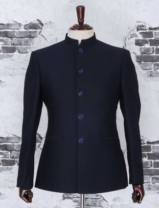 Jodhpuri coat suit in navy hue