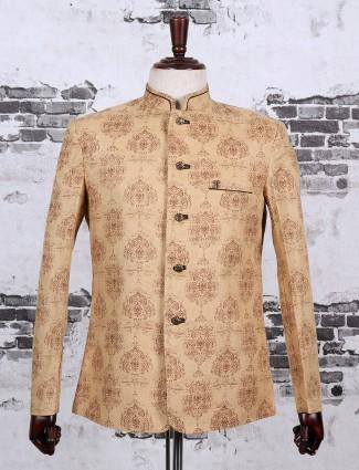 Jodhpuri mustard yellow blazer