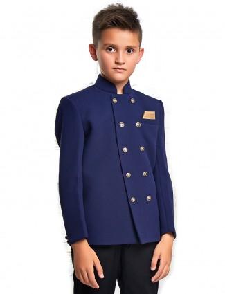 Jodhpuri blazer in blue color