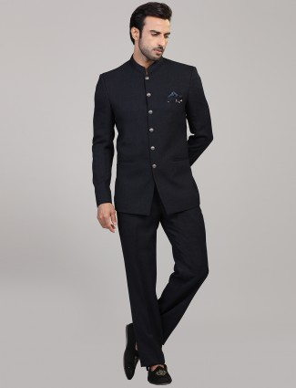 Jodhpuri suit in navy for mens