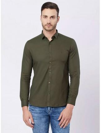 Killer green casual simple shirt