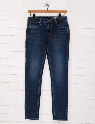 Killer navy solid skinny fit casual wear jeans