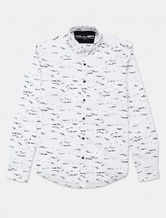 Killer presented white printed shirt for mens