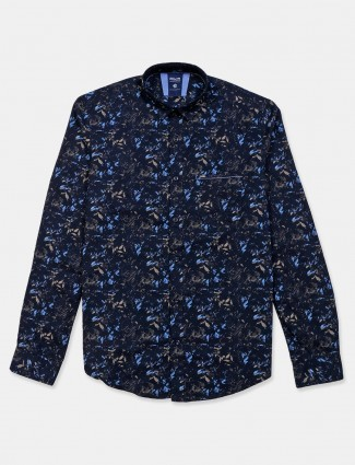 Killer printed navy cotton shirt