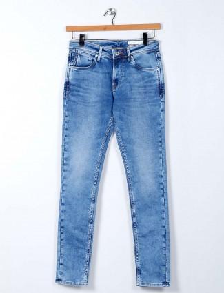 Killer slim fit light blue washed jeans