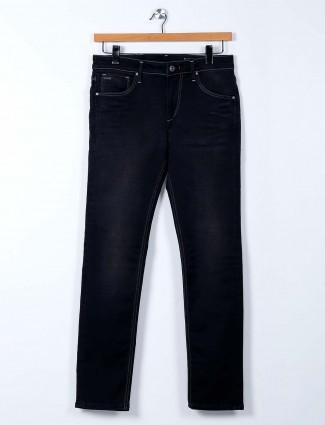 Killer washed black slim fit mens jeans