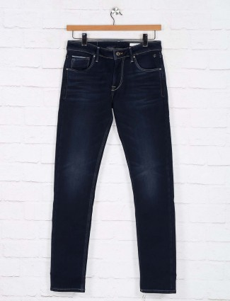 Killer washed navy denim slim fit jeans