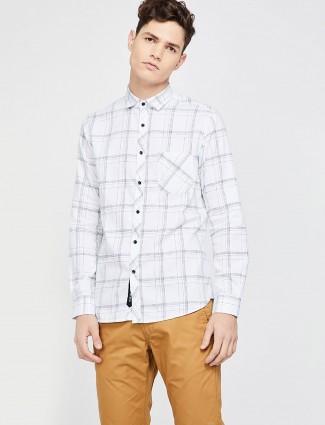Killer white checks cotton shirt