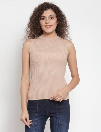 Knitted peach casual wear top