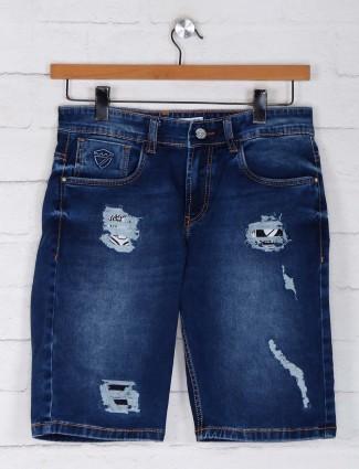 Kozzak navy rippes style shorts