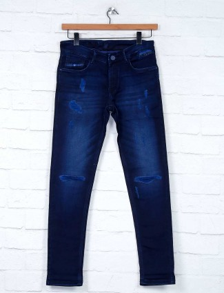 Kozzak ripped dark navy fancy jeans