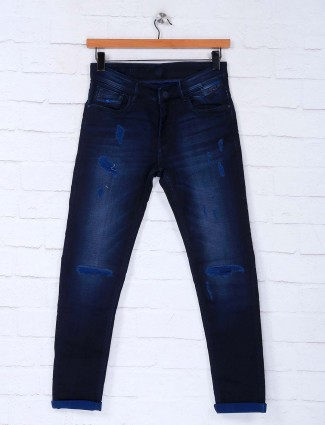 Kozzak ripped dark navy latest jeans