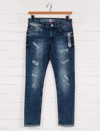 Kozzak ripped datk blue casual jeans