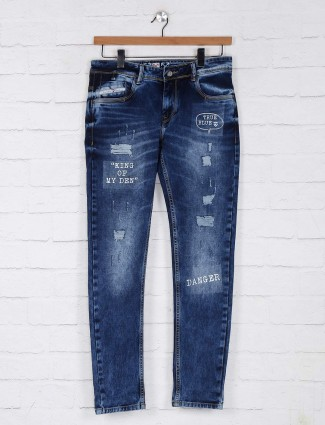Kozzak ripped datk blue jeans