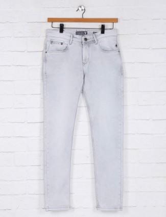 Kozzak solid grey mens denim jeans