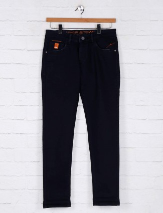 Kozzak solid navy mens jeans