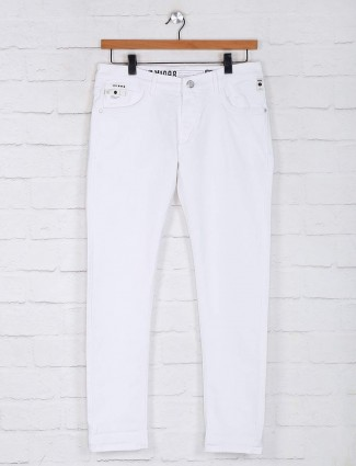 Kozzak solid white casual jeans