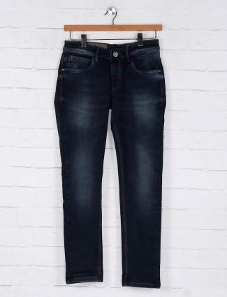 Kozzak washed navy vintage denim jeans
